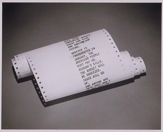 Một phần trong bài phát biểu dùng cho máy nhắc chữ của cựu Phó tổng thống Mỹ Walter Mondale.