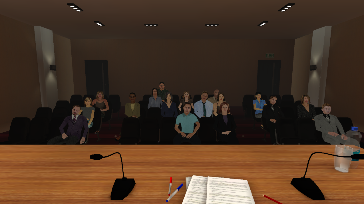 Virtual audience preview
