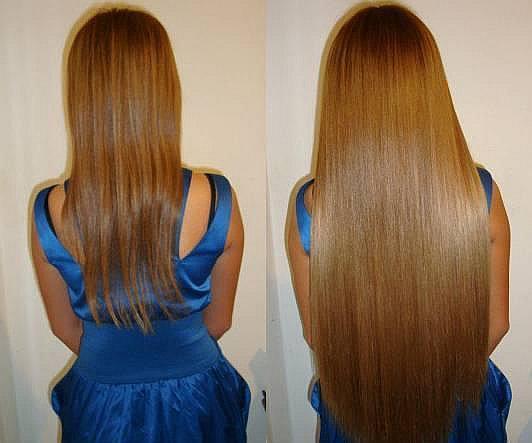 Эффект от наращивания волос
