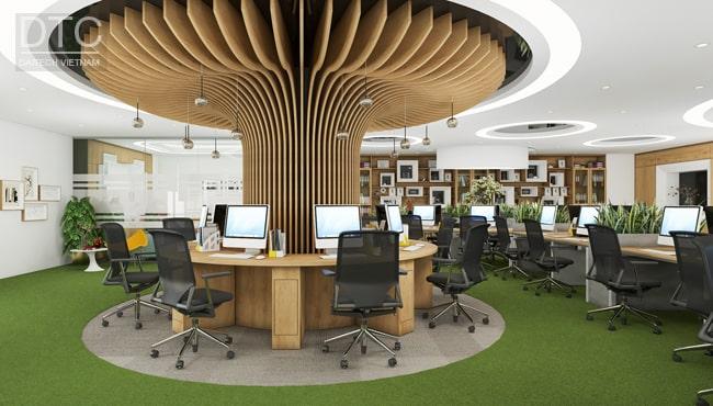 Mẫu thiết kế văn phòng tại tòa văn phòng CIC Trung Kính