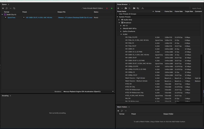 Exporting HD Video with Adobe Media Encoder | Denver Open Media