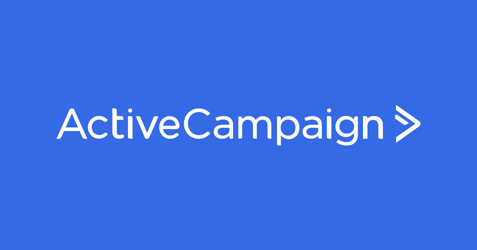 ActiveCampaign logo in blue background is part of the ActiveCampaign vs GetResponse shootout