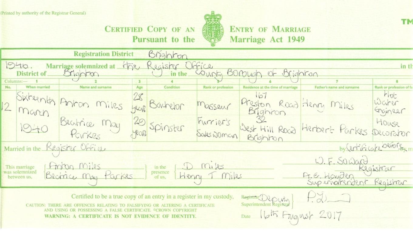 C:\Users\Main user\Pictures\Dadaji\Anton Miles and Beatrice May Parkes Marriage Certificate.jpg