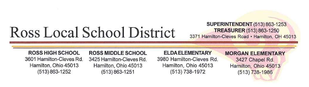 Ross Local Schools Letterhead