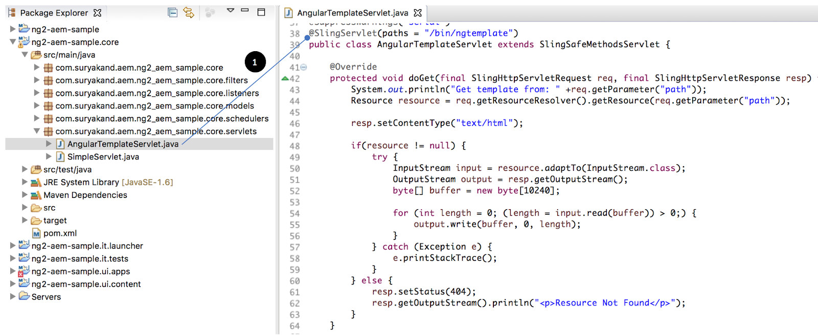 Suryakands blog angulartemplateservlet angular 2 components can have views either as part of same javascript file or it can be loaded from external html file baditri Gallery