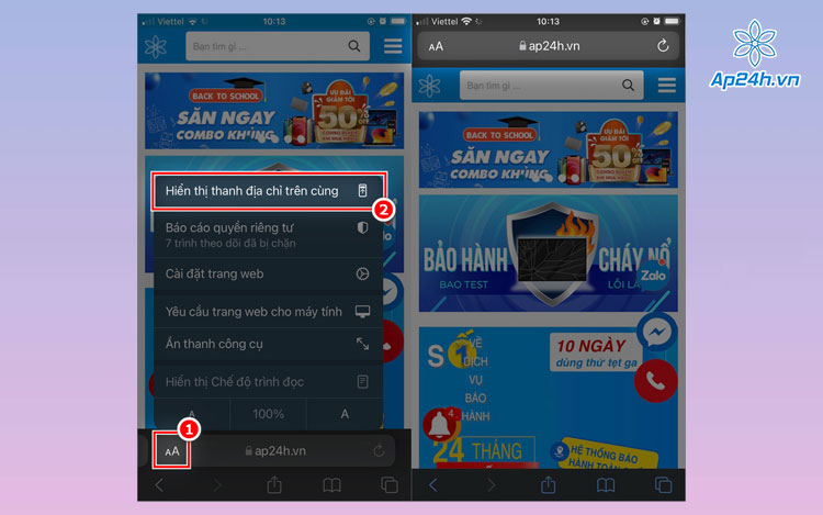 Đổi giao diện Safari trên trình duyệt
