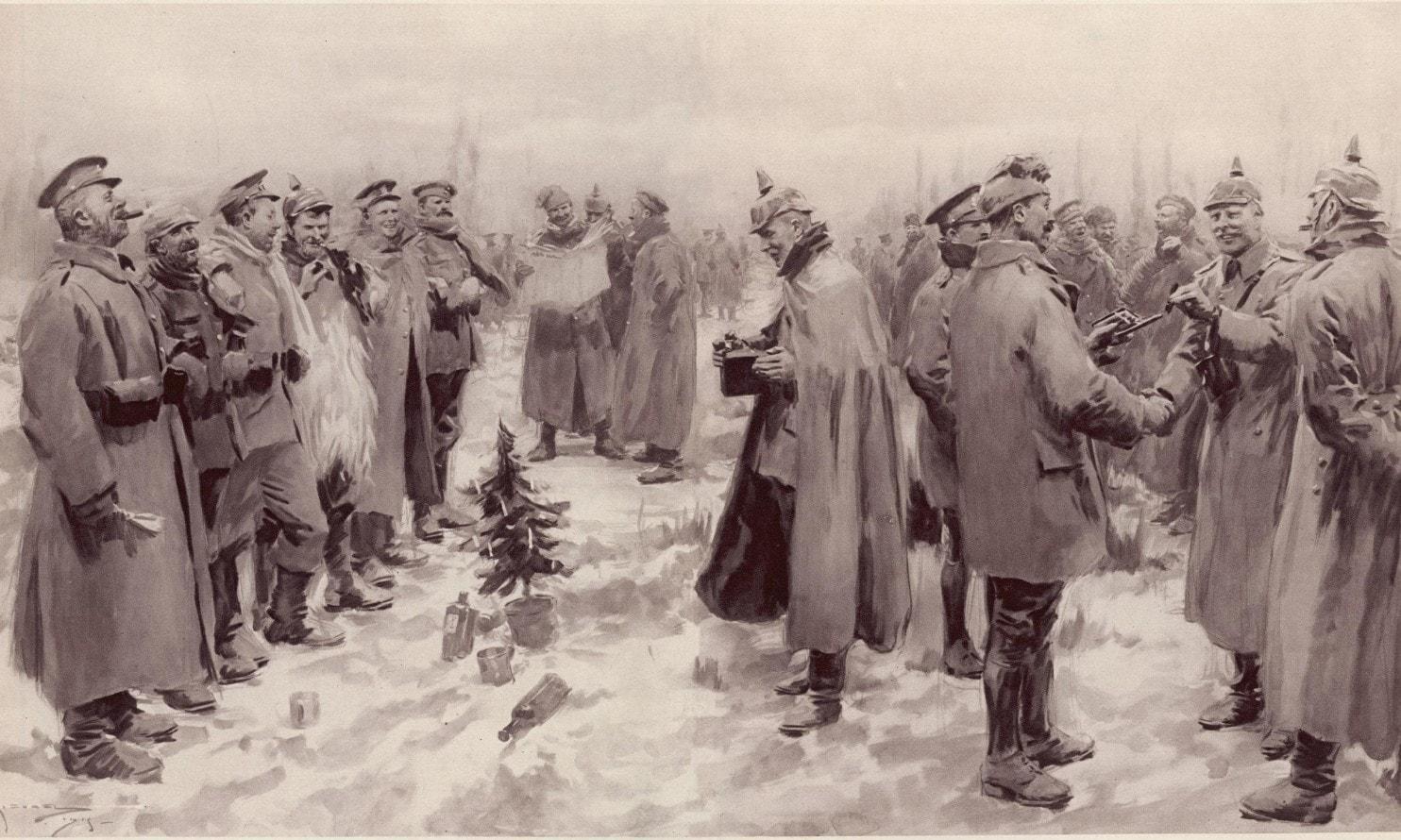 Phép lạ thỏa ước ngừng bắn ngày Giáng sinh: Chiến Binh buông súng và hát những bài ca mừng Giáng sinh truyền thống và uống rượu