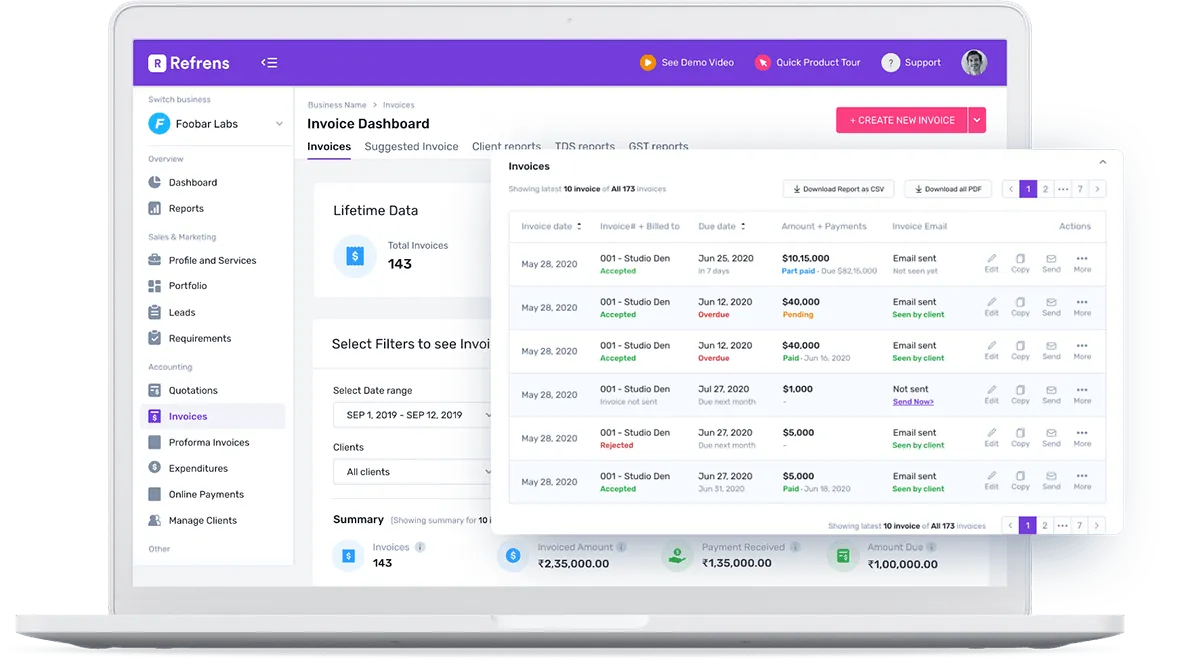 Refrens.com - online invoicing software for small businesses, agencies, & freelancers. Consider these factors when you generate your next invoice.