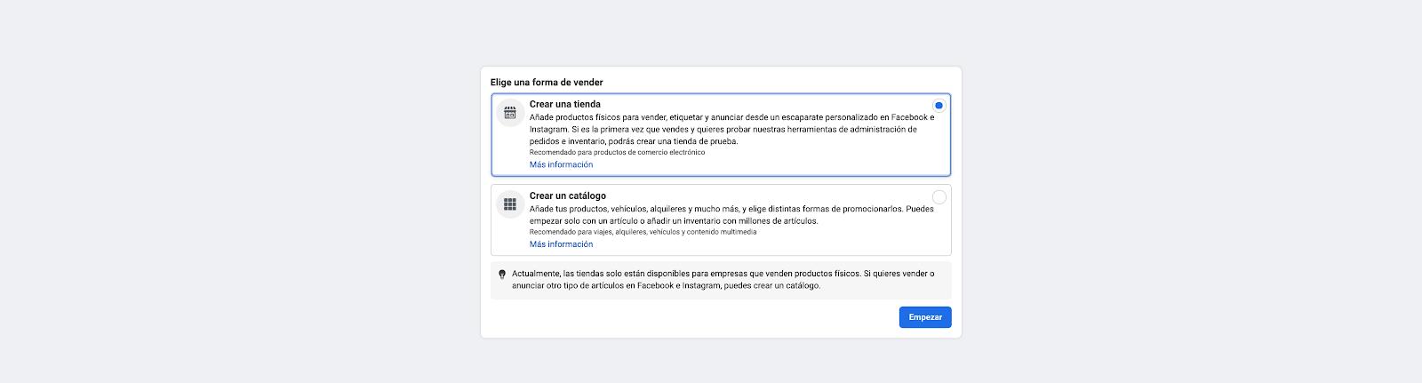 Cómo añadir un Catálogo de Facebook