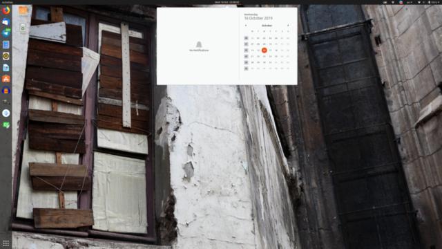 Calendar Widget - Ubuntu 19.10 Eoan Ermine