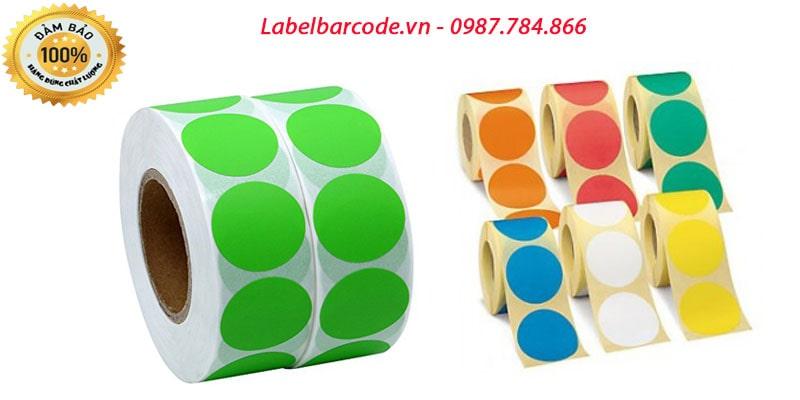 Decal tem tròn bế dạng cuộn với các kích thước đa dạng