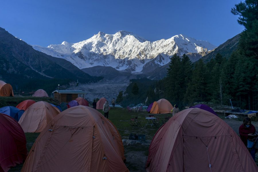 Camping at fairy meadows in Pakistan