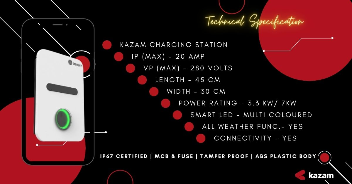 AC Charger, DC Charger, Kazam EV, Kazam Chargers, Ev Charging Stations, EV Charging Station, Kazam EV Chargers, EV Charging Station, EV Charger, Electric Vehicle Charging Station, startups, startup, renewable mobility accessible, renewable mobility, Kazam EV, Best Charging Stations, Best EV chargers, PAN India, Kazam AC Chargers