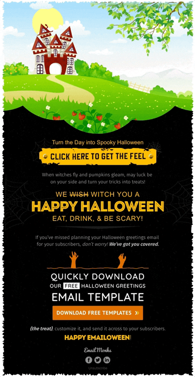 Halloween email template