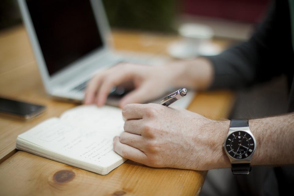 書き込み, ワークステーション, オフィス, ビジネス, ノートブック, Macbook 空気