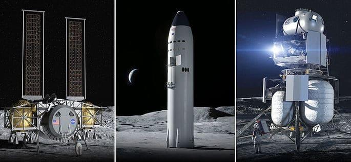 Diferentes equipos diseñados para poder hacer vida normal en la Luna.