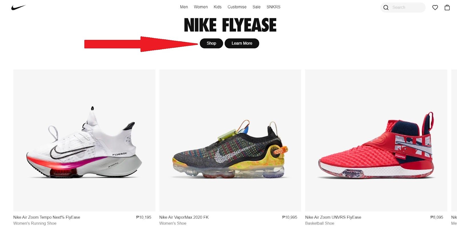 The website of nike.com offers the best user experience because you can see everything on their homepage.