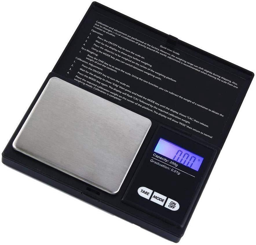 A small digital scale perfect for measuring weed by the gram, eighth, or ounce for the individual cannabis consumer.
