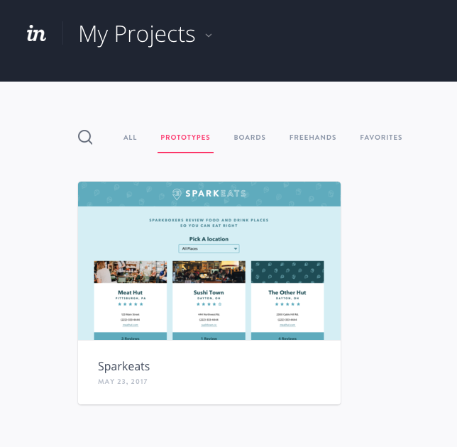 We used InVision as a prototyping tool