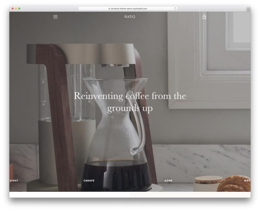 narrative free shopify theme