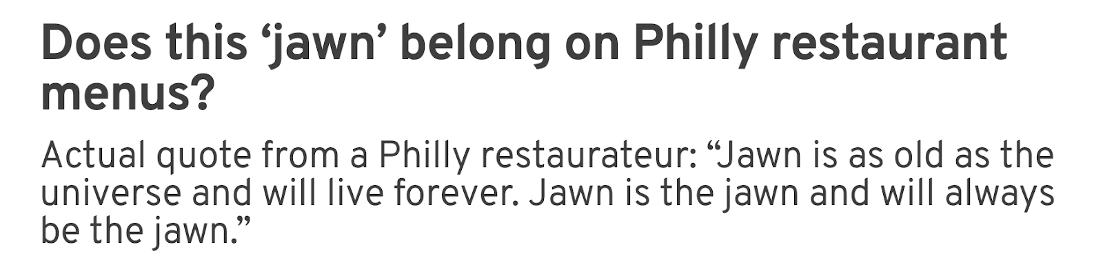 Does this 'jawn' belong on Philly restaurant menus?