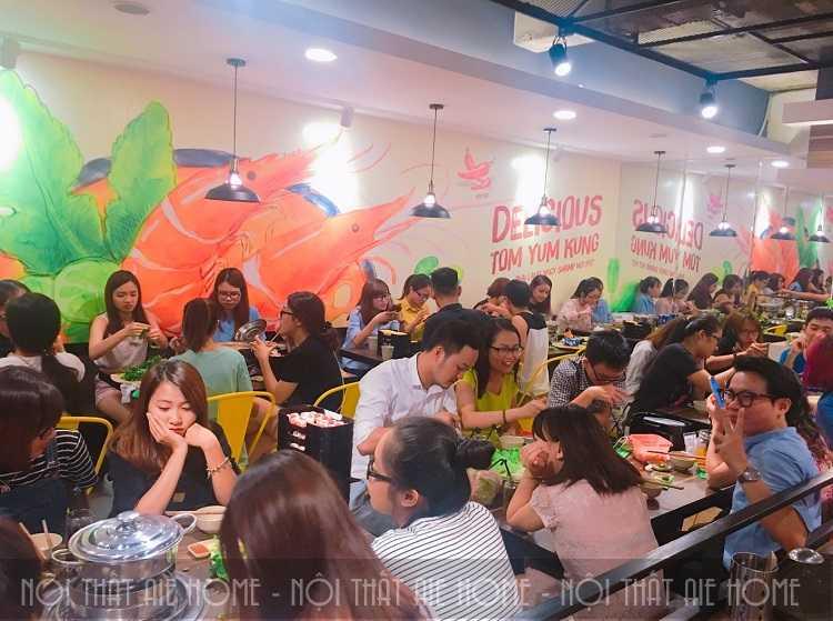 Thiết kế nội thất nhà hàng lẩu thái Food House