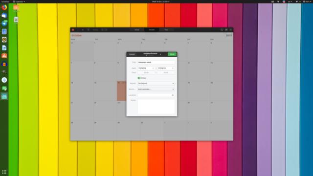 Calendar App - Ubuntu 19.10 Eoan Ermine