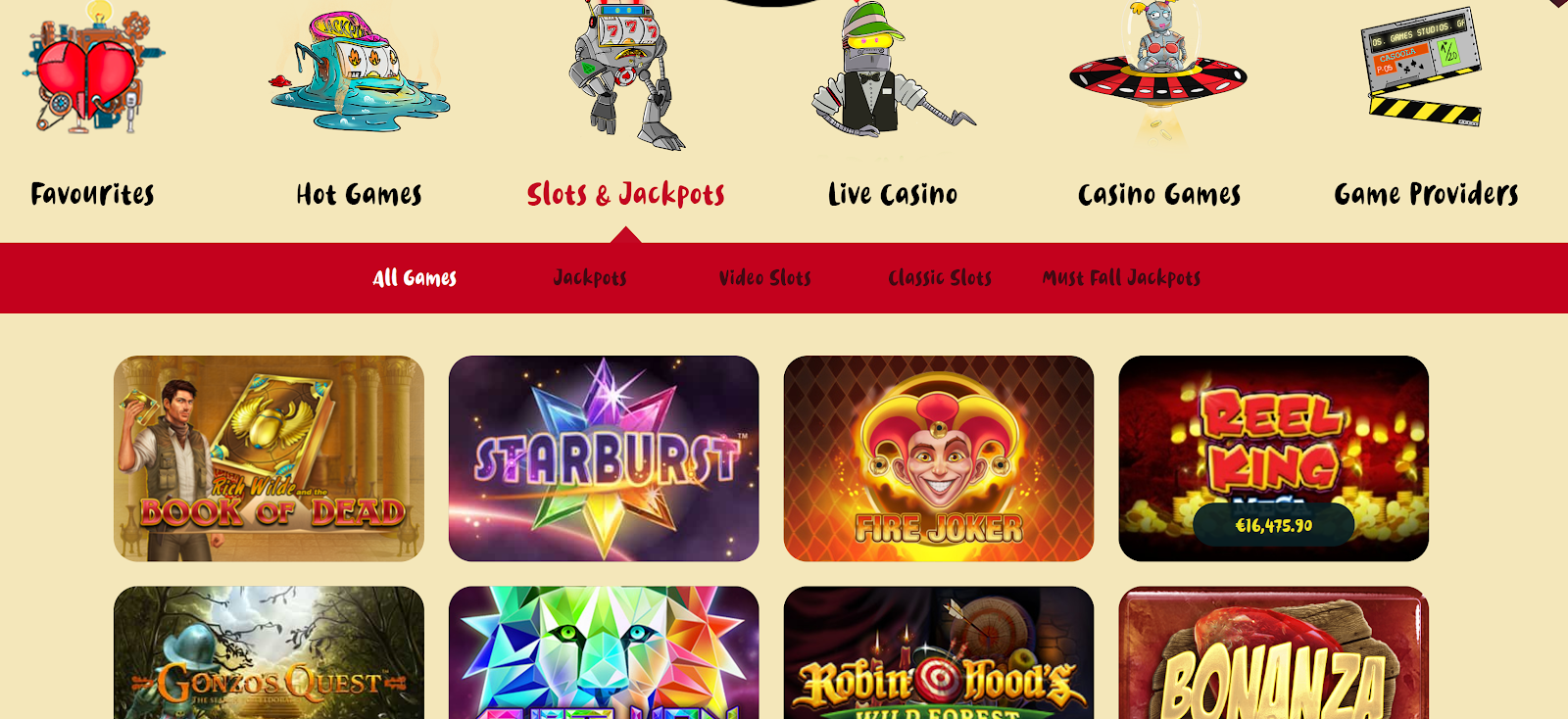 Casoola Casino has lots of great slot games that you can play