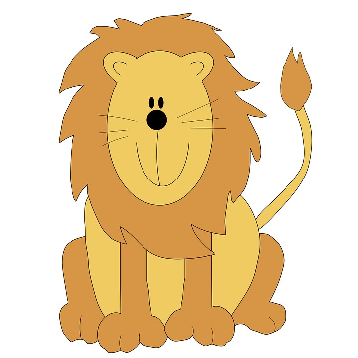 Free illustration: Lion, Clip-Art, Cartoon, Wildlife - Free Image ...