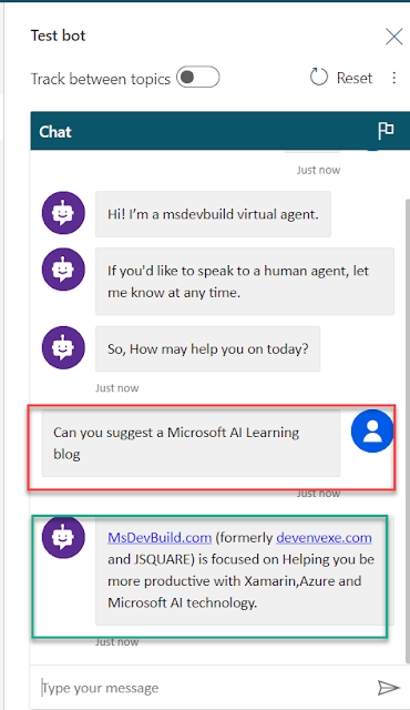 Power Virtual Agents: customize the bot conversation messages