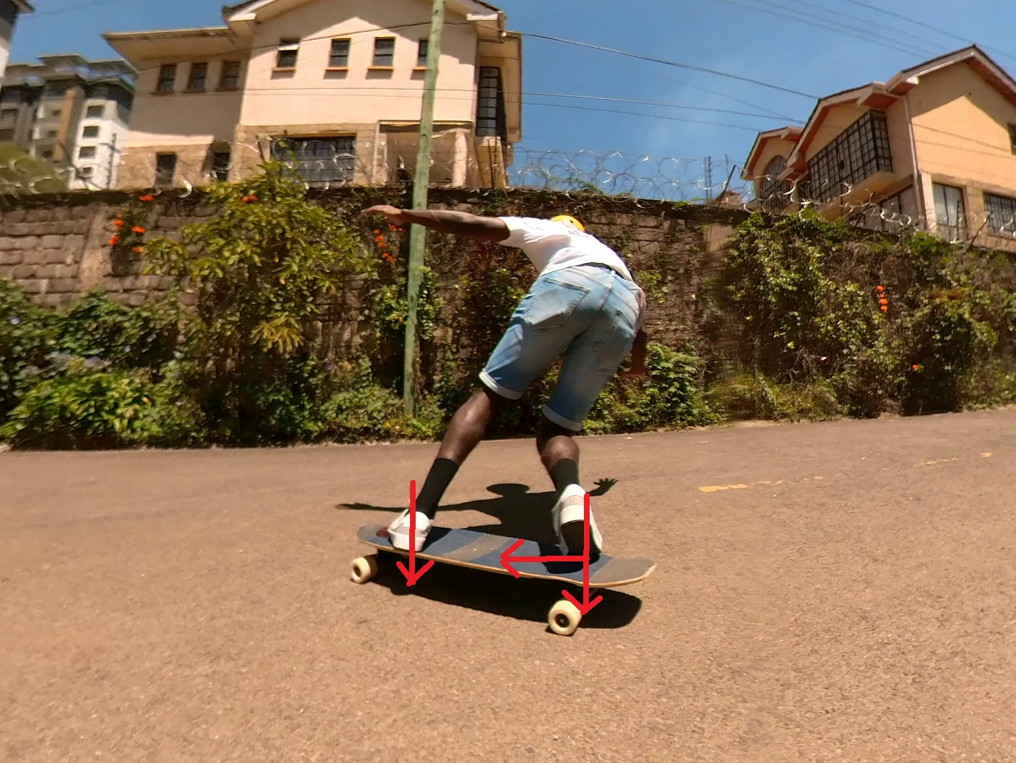 toeside 180 stand-up slide push