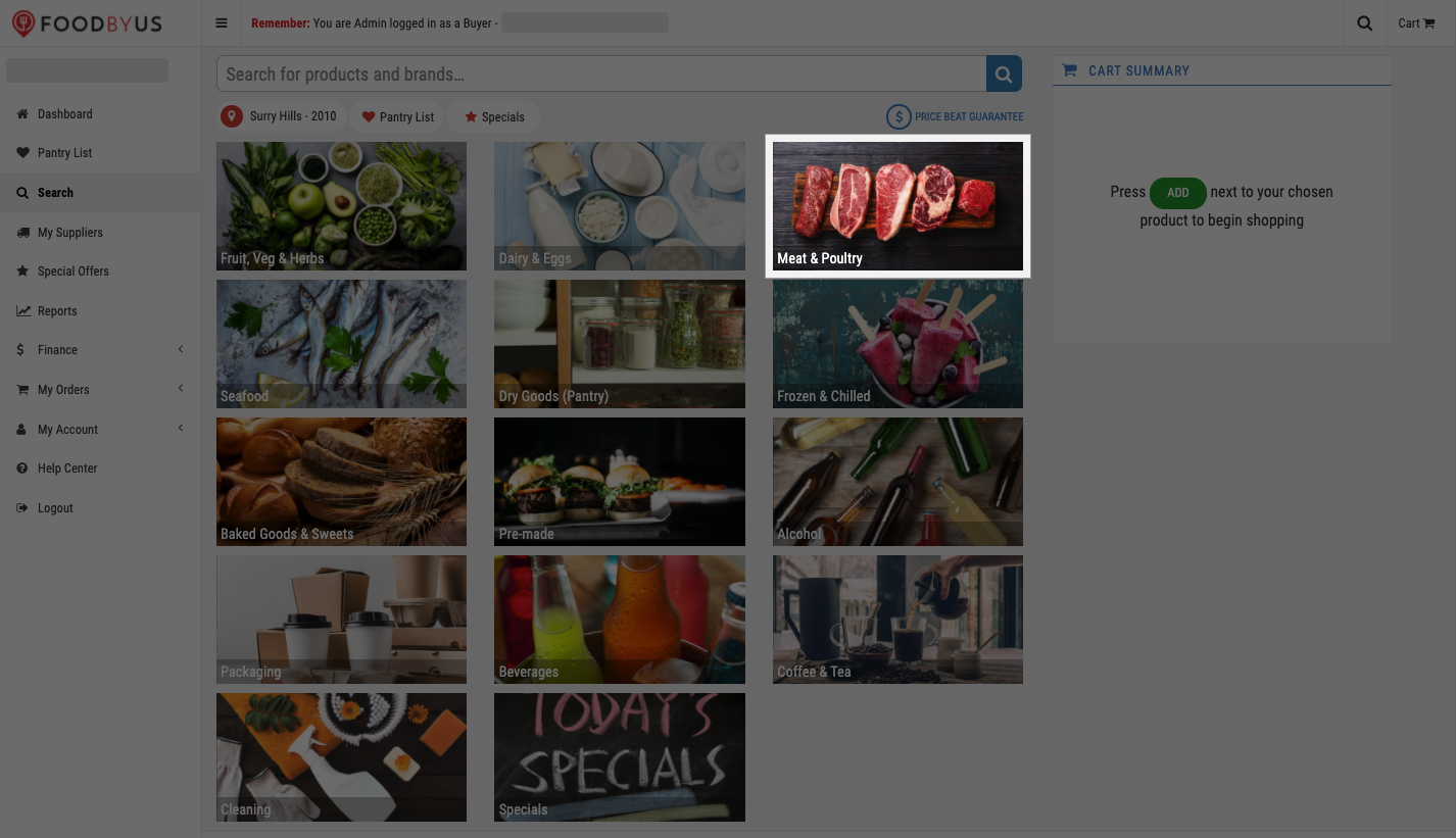 FoodByUs_dashboard_search_marketplace_choose_meat_and_poultry