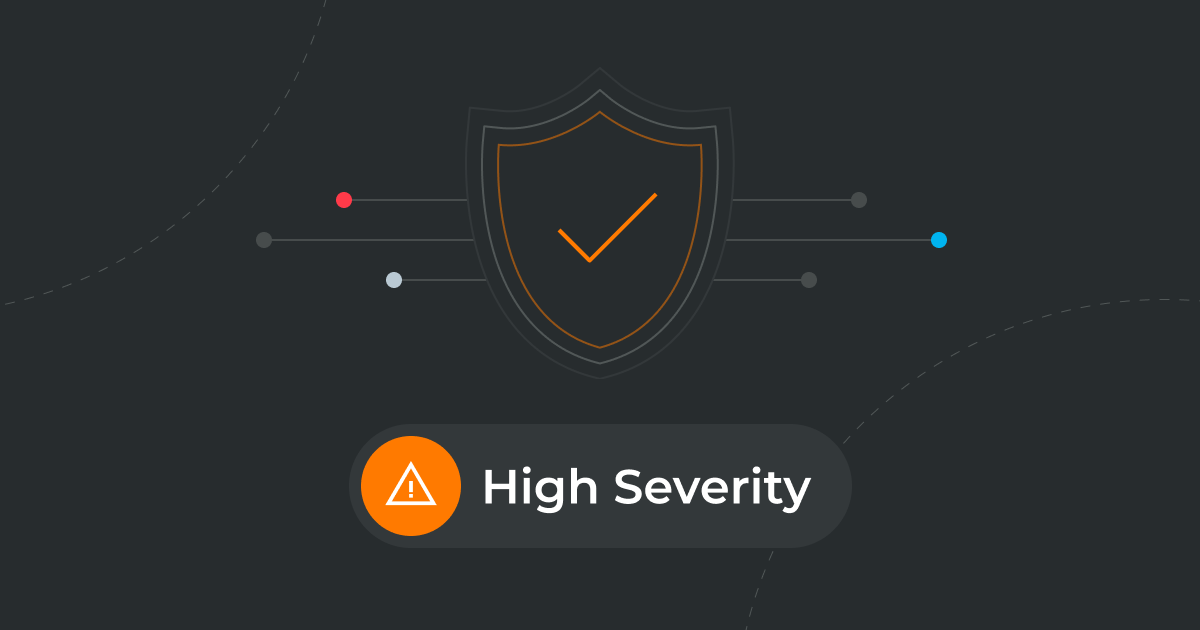 Hgh-severity email banner from 7+