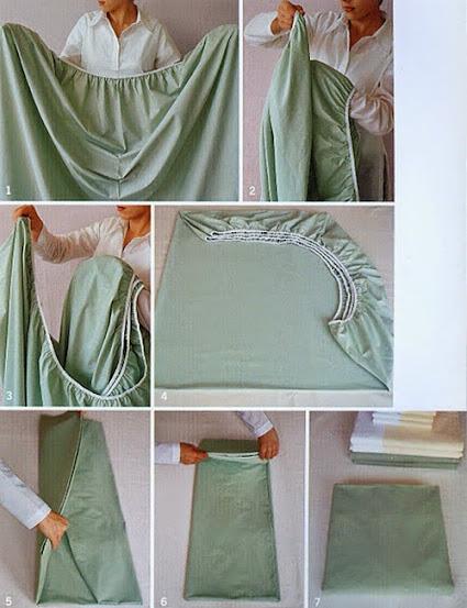 cómo doblar una sábana