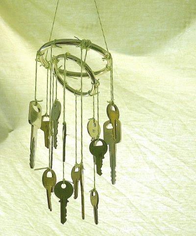 Chuông gió được làm từ những chiếc chìa khóa cũ