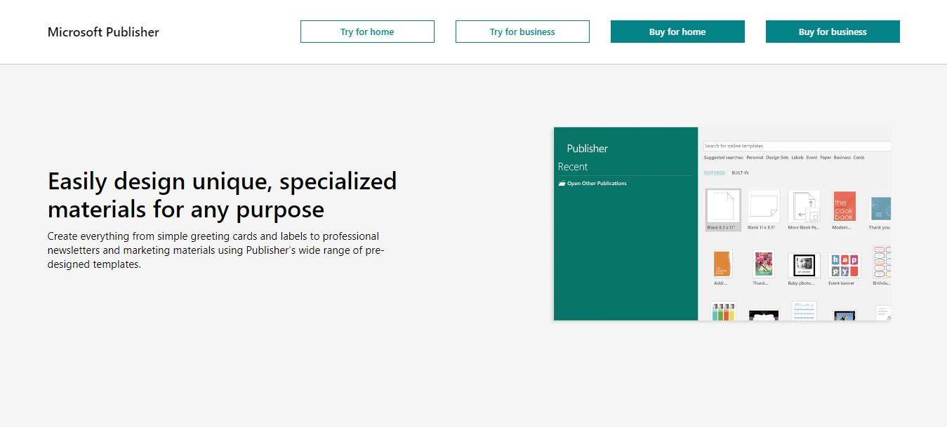 Microsoft Publisher the best free brochure maker software for marketers and small business owners