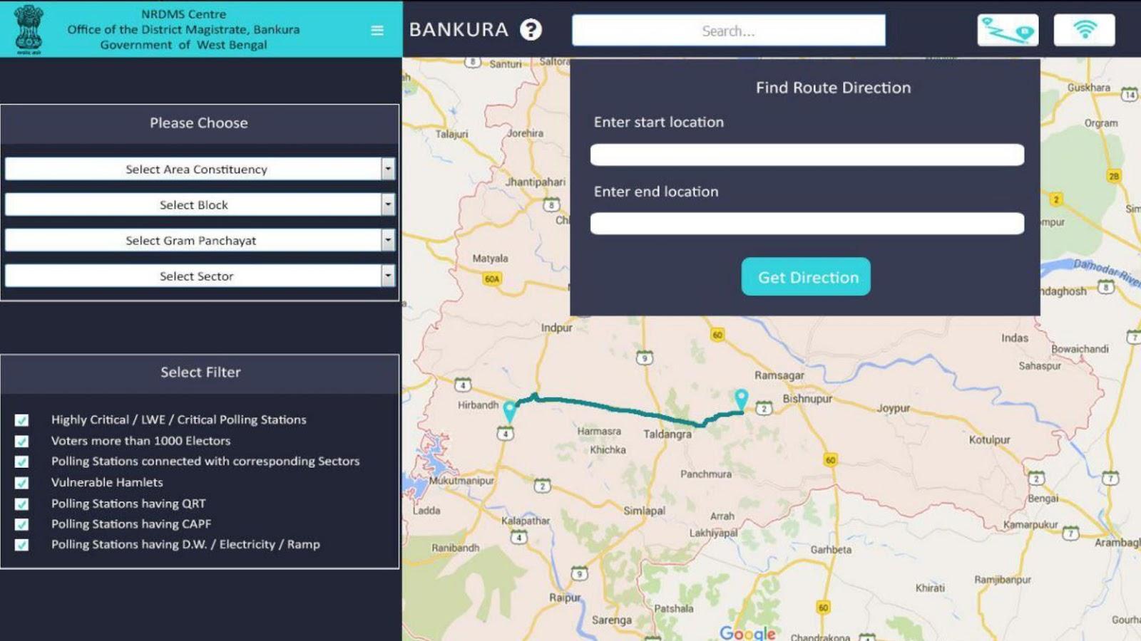 'Suraksha' User-Interface