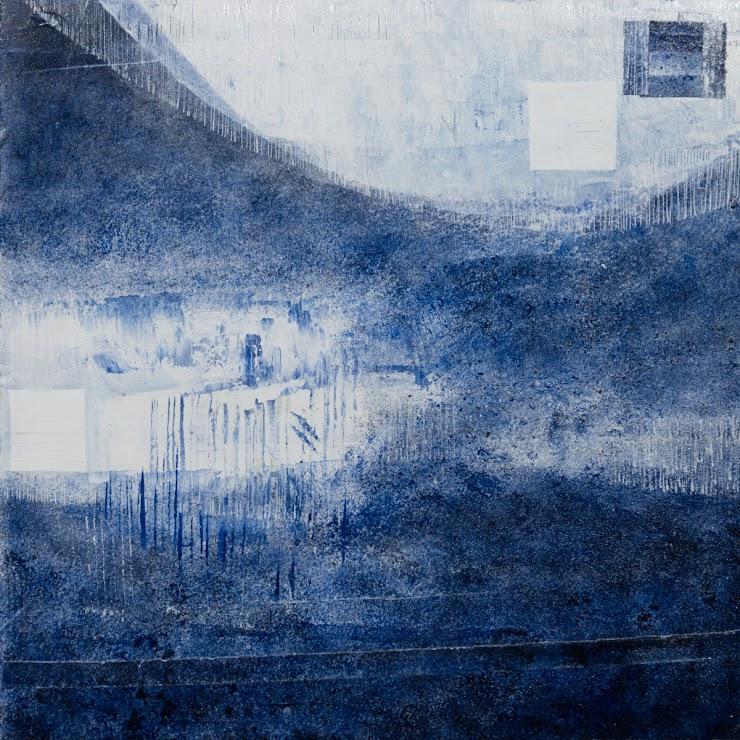Blue mood 21x21cm. acrylic on cardboard / Синьо настроение 21x21см. акрил върху картон