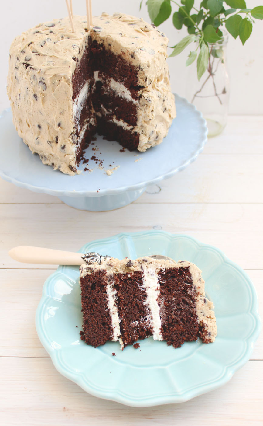 Cookie Dough & Whipped Cream Chocolate Cake