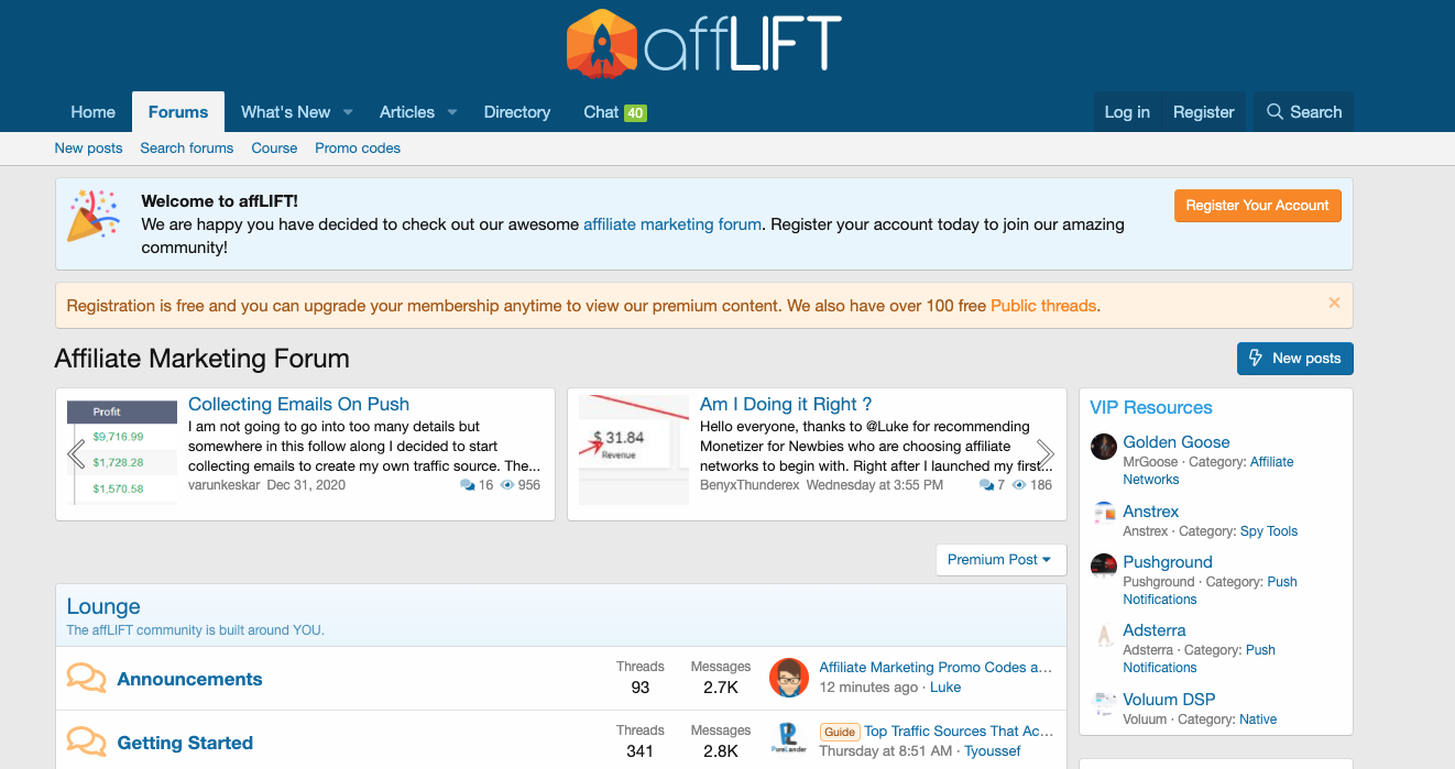 affiliate marketing forum afflift