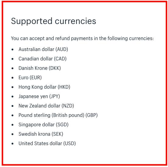 Shopify: multi-currency