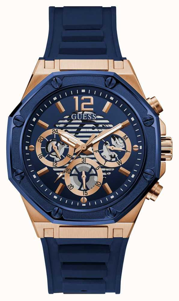 Guess MOMENTUM Men's Blue Silicone Strap Watch GW0263G2 - First Class  Watches™