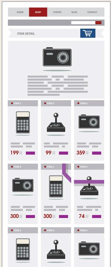 макет страницы с коротким текстом категории товаров в интернет-магазине