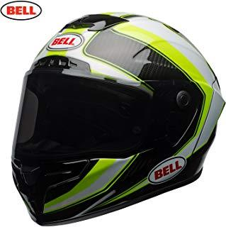 Bell Cascos Racestar, Sector Blanco/Hi Viz Verde, Talla XL