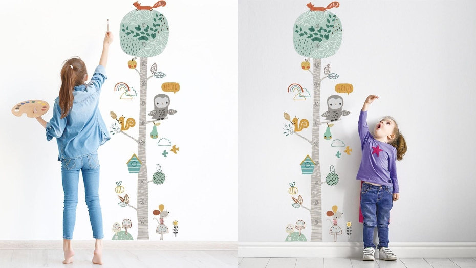 educational wall decals height chart