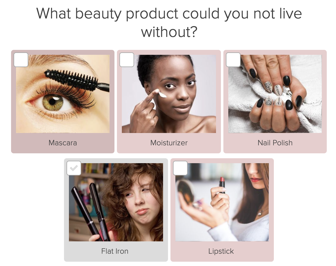 beauty product quiz question