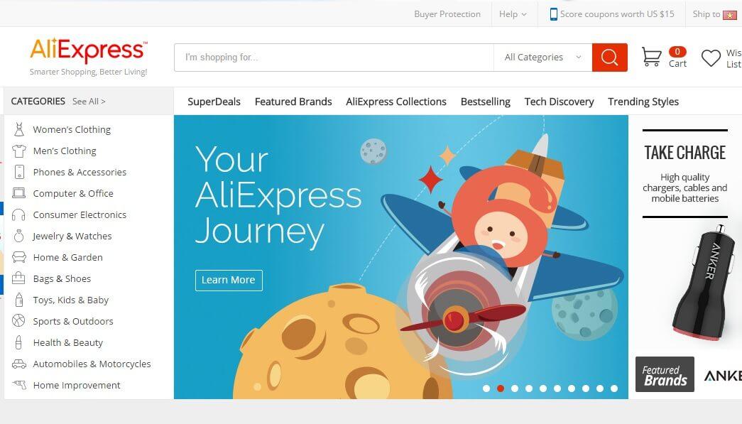 trang web aliexpress