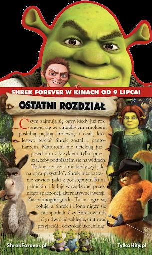 Tył ulotki filmu 'Shrek Forever'