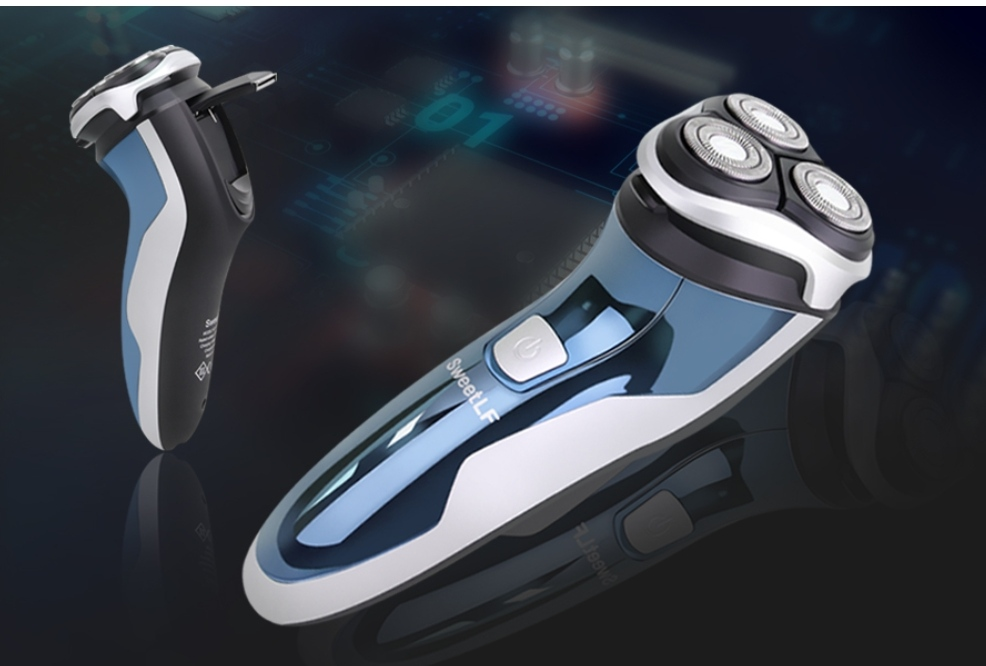 best electric shaver for sensitive skin | SweetLF 3D Rechargeable 100% Waterproof IPX7 Electric Shaver