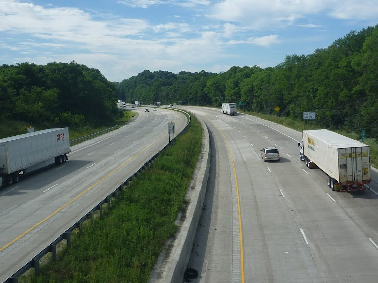 Picture: Vehicles move freely on Interstate 65 after a construction project widened it to 6 lanes.